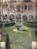 Santiago Rusino Abandoned Garden in Viznar Giclee Paper Print Poster