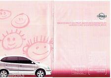 PUBLICITE ADVERTISING 046  2001  Nissan la Almera Tino le Familyspace (2p)