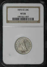 1875-CC Twenty Cent Piece NGC VF-35