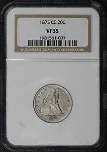 1875-CC Twenty Cent Piece NGC VF-35