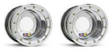 "DWT Polished Rear Beadlock Wheels Rims 9"" 9x8 4/115 Raptor 700 YFZ450 Banshee"