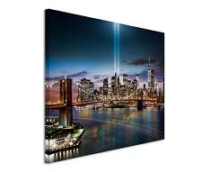 120x80cm Leinwandbild auf Keilrahmen New York City bei Nacht
