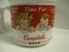 1998 Campbells Soup Collectors Mug Bowl Campbell's Kids HH Vintage Time For Bowl
