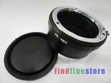 Adapter for Pentax PK K Lens to Sony E NEX 3 NEX 5 NEX 7 NEX C3 5C 5N 5R + CAP