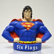 """Vintage 1996 SUPERMAN 6 1/2"""" Plastic COIN / PIGGY BANK Six Flags Exclusive"""