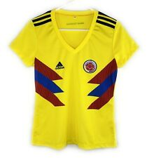 Adidas Columbia Womens Jersey Yellow Soccer Futbol Football Short Sleeve Size M