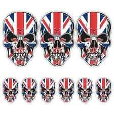 Union Jack Calavera Conjunto de pegatinas Laminado Bandera del Reino Unido Coche Moto Triumph Guitarra