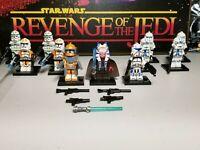 Captain REX 501st & Shaak Ti Jedi lot 11 minifigures clone troopers Star Wars #2
