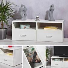 Lowboard Schrank Board Fernsehtisch Möbel Weiß Fernsehschrank Tisch Unterschrank