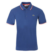 Lacoste YH7900 Men's Tipped Golf Tennis Polo Shirt Blue UK Large FR 5 £95 40%OFF