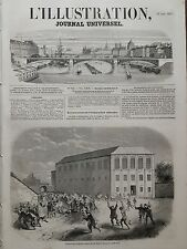 L' ILLUSTRATION 1857 N 746 EVASION DES EMIGRANTS CHINOIS DE LEU DEPÔT A MACAO