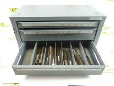 """HUOT FRACTIONAL TAP INDEX CABINET 1/4""""-20NC TO 1""""-12 + HSS TAPS"""