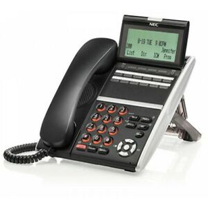 NEW NEC ITZ-12DG-3(BK)TEL IZV(XDG)W-3Y(BK) Gigabit IP Phone 90 DAY WARRANTY