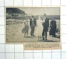 1955 St Michaels Mount, Jill Bulcock Marries Geoffrey Jago Marazion