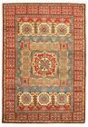 """Vintage Hand-Knotted Carpet 4'0"""" x 6'1"""" Traditional Oriental Wool Area Rug"""