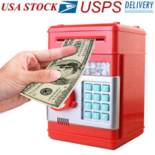 Kids Electronic Piggy Bank ATM Password Money Coin Automatic Safe Saving Box US