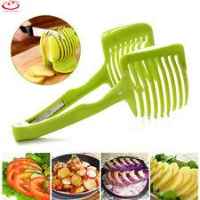 Kitchen Fruit Slicer Vegetable Tomato Clip Holder Lemon Potato Onion Cutter Tool
