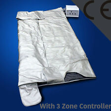 Improved 3 Zone Fir Far Infrared Sauna Slimming Blanket Weight Loss Spa Detox DC