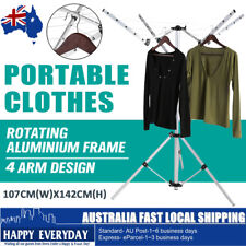 PORTABLE Clothes Dryer Airer Folding Coat Rack Camping Clothesline Hanger Rotary