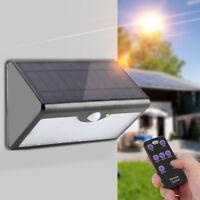 Remote Control 60 LED Solar Power PIR Motion Sensor Light Outdoor Security Wall