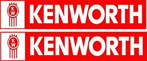 Kenworth Logos Stickers 2 x 250 mm x 50 mm Quality Stickers