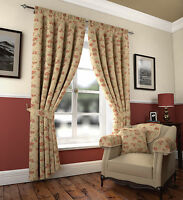 Olivia Pencil Pleat Fully Lined Heavy Jacquard Curtains And Matching Accessories