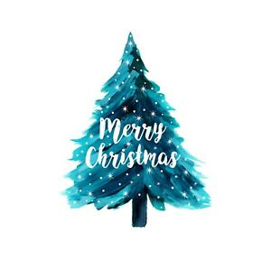 48X MERRY CHRISTMAS TREE XMAS WATERPROOF STICKERS CRAFT GIFTS BAGS 40mm SNP44