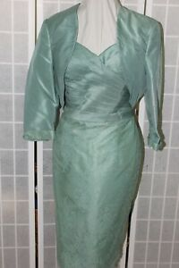 NWT Social Occasions by Mon Cheri 216876 Loden Green Size 14 short dress