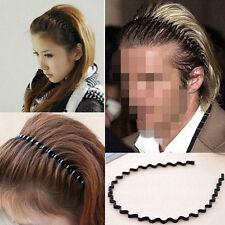 Unisex Women/Men Hippie Wavy Zigzag Sport Metallic Hair Band Head Band Hoop