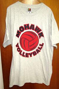 MOHAWK HIGH SCHOOL WARRIORS volleyball beat-up tee OHIO lrg T shirt Sycamore 90s