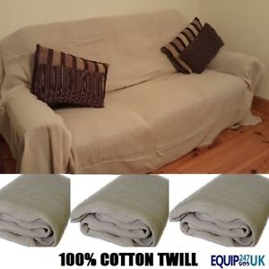 3 x 12FT X 6FT  LARGE PROFESSIONAL 100% COTTON TWILL DUST SHEETS DECORATING