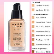 Avon True Color Flawless Liquid Foundation Spf15 - 1 oz - 30 ml / Various Shade