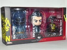 Hot Toys Cosbaby Batman v Superman Collectible Bruce Wayne Batsuit Robin Suit