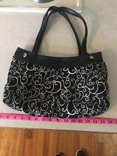 Thirty One Handbag Black And White