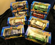 Bburago Street Fire Ford Focus Rally car Set of 8 in 1/43