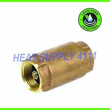 "1/2"" NPT Threaded In-Line Brass Spring Check Valve, LEAD-FREE"