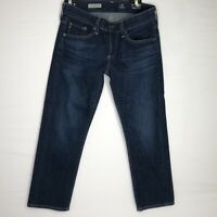 AG Adriano Goldschmied Jeans 26 the Tomboy Crop Relaxed Straight Crop