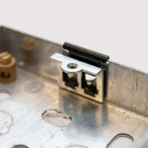 Back Box Repair Clips Replace Damaged Threads or Lugs on Installed Pattress Box