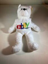 "eBay Magazine Rare 1999 White Plush Bear 9"" Exclusive Grand Paw"