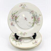 "Theodore Haviland New York Apple Blossom China Bread Butter Plates 6.5"" Lot of 4"