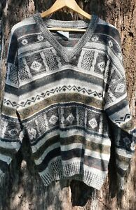 1980s Pure wool Sovrano Lanel Size 18 Mens Winter Jumper Sweater Aussie Made