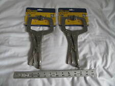 "(2) New Irwin 11"" Vise-Grip C-Clamp 11Sp Capacity 3-3/8"" free shipping!"