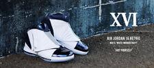 Air Jordan XVI retro 16 size 9.5. Midnight Navy White OG. 683075-106.