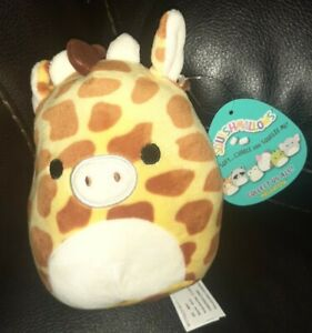 "New Rare hard to find Kellytoy Squishmallow 5"" Exclusive plush Gary Giraffe"