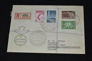 Finland 1952 Olympic FDC, 99p Start