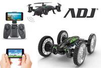 Drone con Videocamera Wifi Dual Mode Macchina 4WD ADJ 790-00001 Maverik