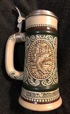 "Vintage 1978 Avon Beer Stein ""Rainbow Trout & English Setter"" Made In Brazil"