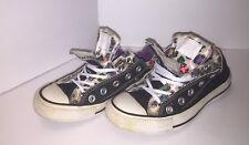 Converse Chuck Taylor All Star Ox Double Upper Women's Sz5 Black Leopard Sneaker