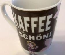 Perleberg KAFFEE Macht Schon!  Mannekes Brown Coffee Mug Cup Floral Cute Lady