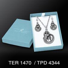 Mermaid .925 Sterling Silver Set Earrings Pendant by Peter Stone